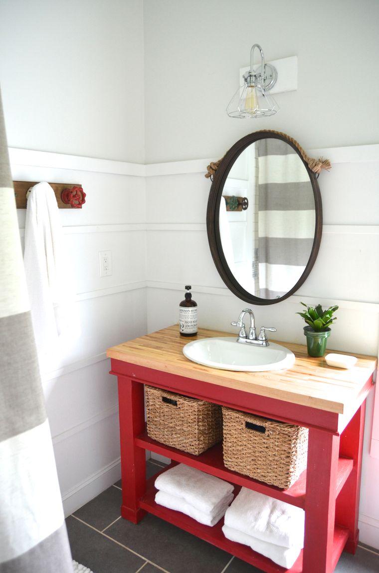 DIY pink dressing table