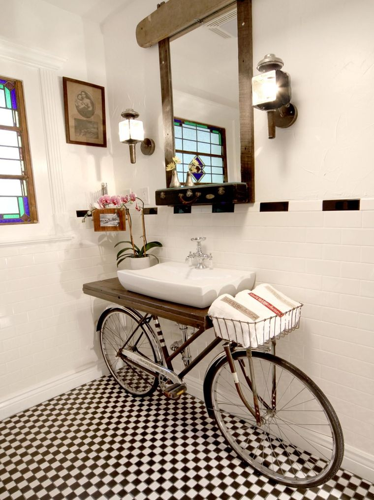 DIY bicycle dressing table
