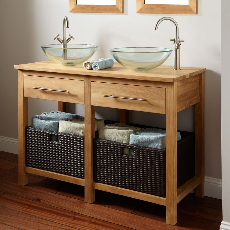 DIY simple rustic style dressing table