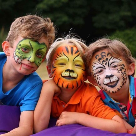 children's face painting home