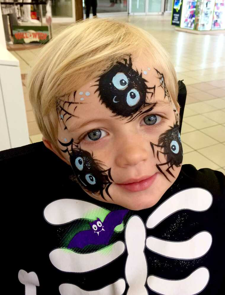 spiderman children's face painting