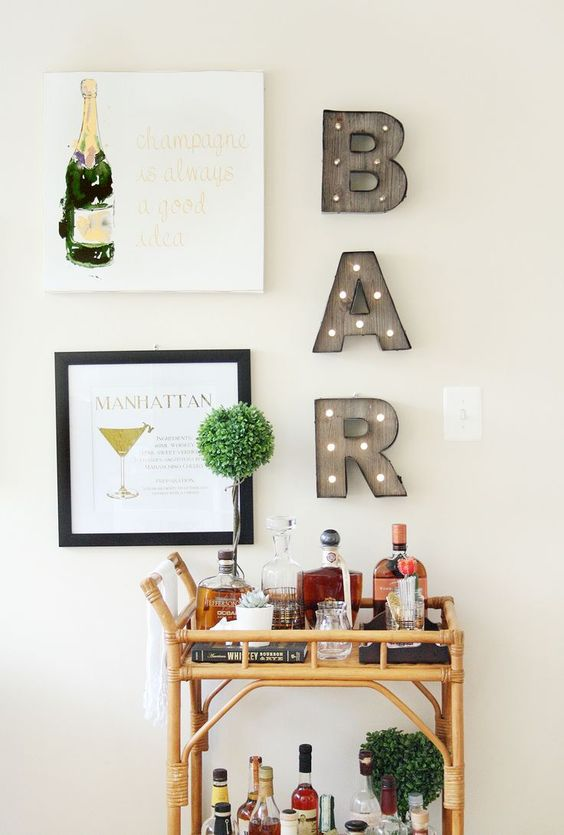 Corporeal letters wall art