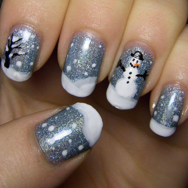 Snowman Christmas Nail Designs