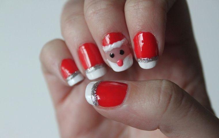 Christmas Santa Face Nail Designs