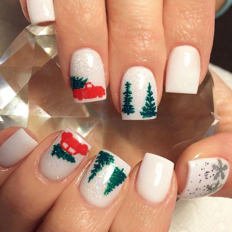 Christmas Landscape Nail Designs
