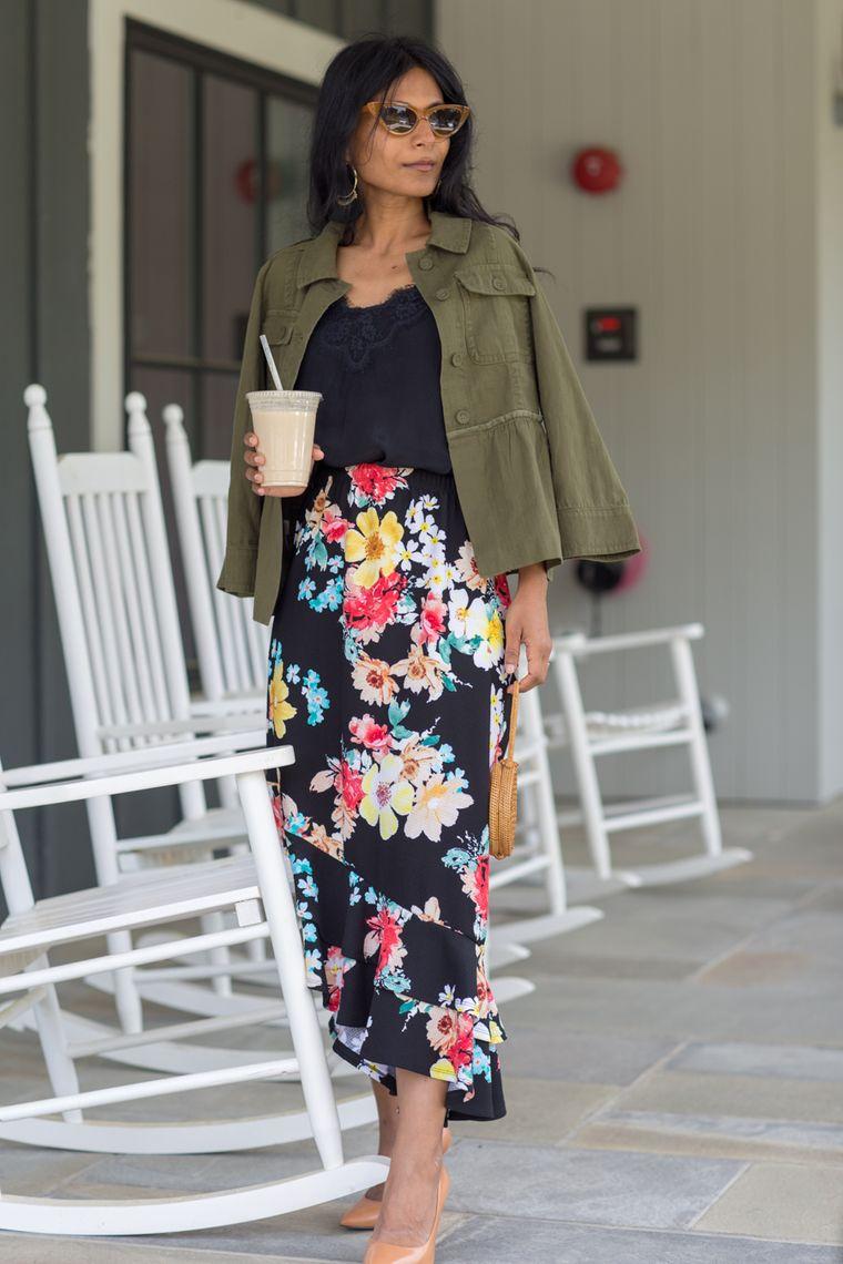 floral design skirt