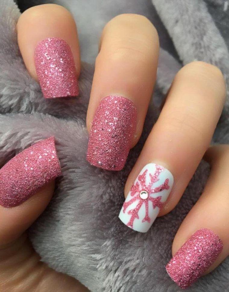 Pink Christmas Nail Designs