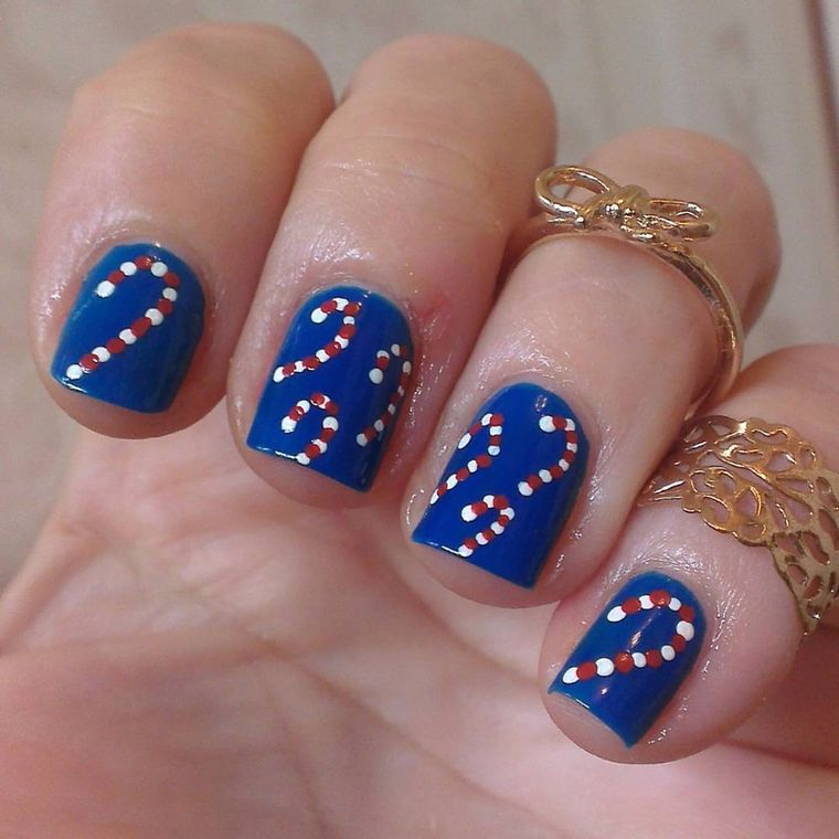 Blue Christmas Nail Designs
