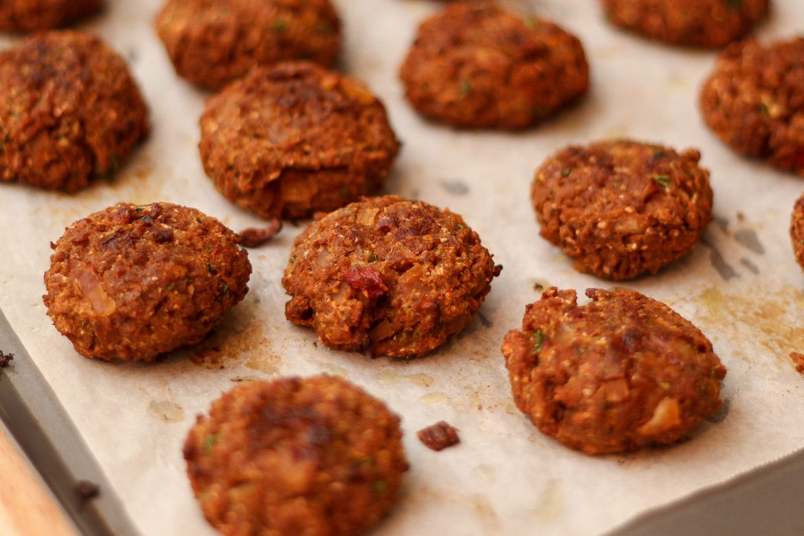 Vegetarian Rissoles with Textured Vegetable Protein (TVP)