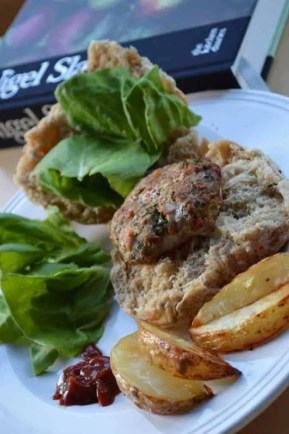 Pork and Chilli burgers with lime and coriander - burger recipe