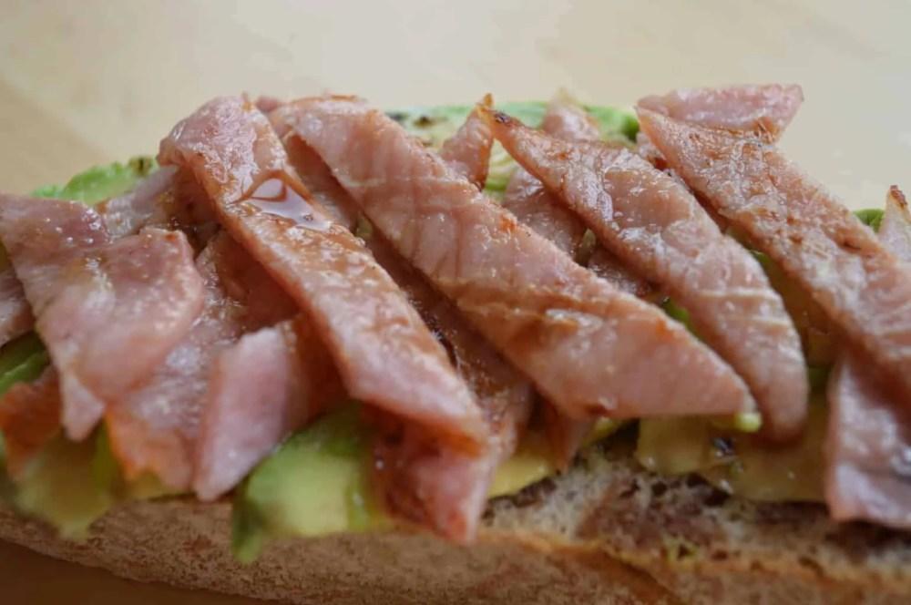 Bacon and avocado salad