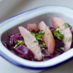 red cabbage with cinnamon and pear