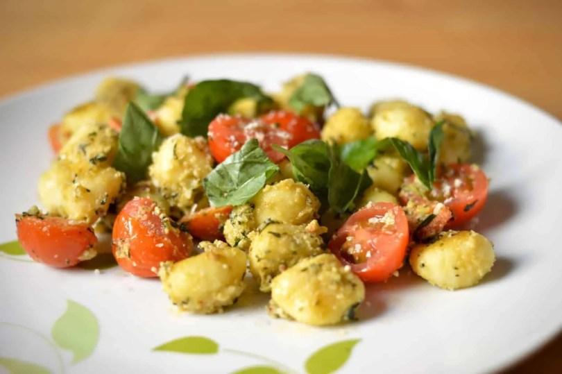 pesto and tomato gnocchi