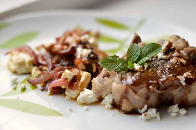 lamb chops with mint and feta