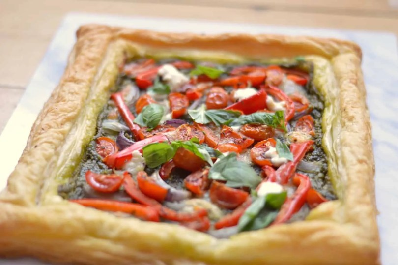 Pastry pizza