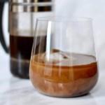 Cold brew amaretto cocktail