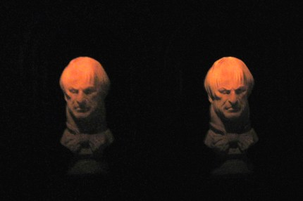 """Disneyland - Haunted Mansion Following Bust Stereogram"" by BoogaFrito is licensed under CC BY"