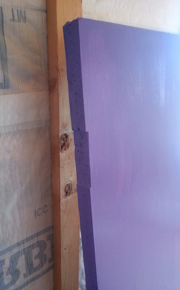 The side door is inside Tyrava, leaning against the wall. The edge has been painted dark purple.