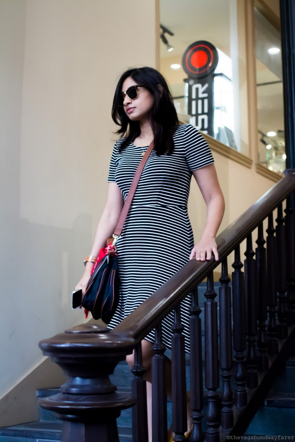 Madewell Striped dress - The Vagabond Wayfarer
