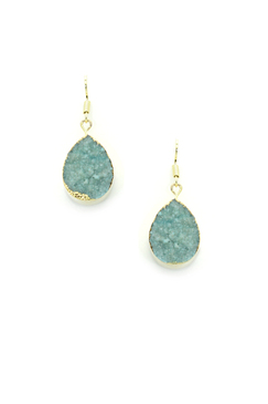 Eye Candy Drusy Teal My Ear