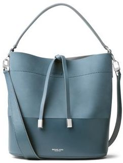 Michael Kors Collection Miranda Medium Leather Bucket Bag