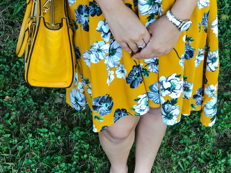 Yellow Floral Swing Dress - Zaful, Dr. Scholls shoes