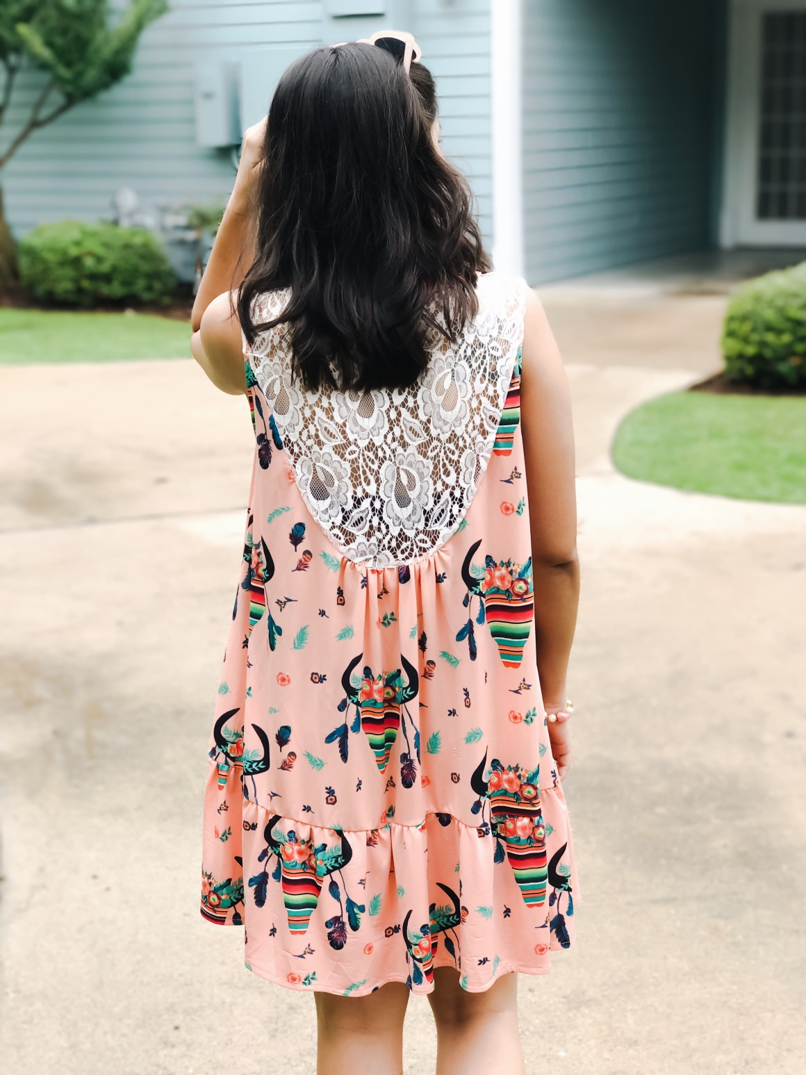 Quirky Print Dress  - Giddy Up Glamour