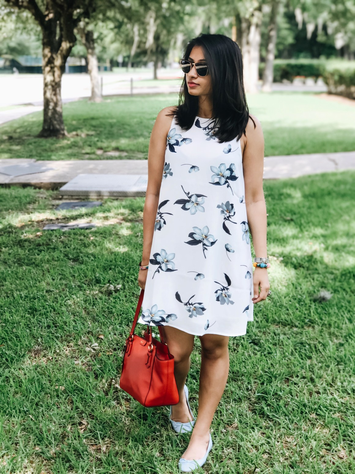 Floral Summer Sundress by Romwe, Ralph Lauren bag