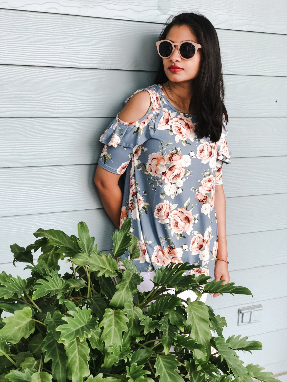 Center of Attention Floral Top