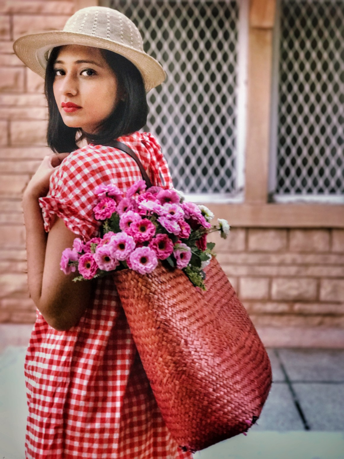 Hello spring + Gingham dress