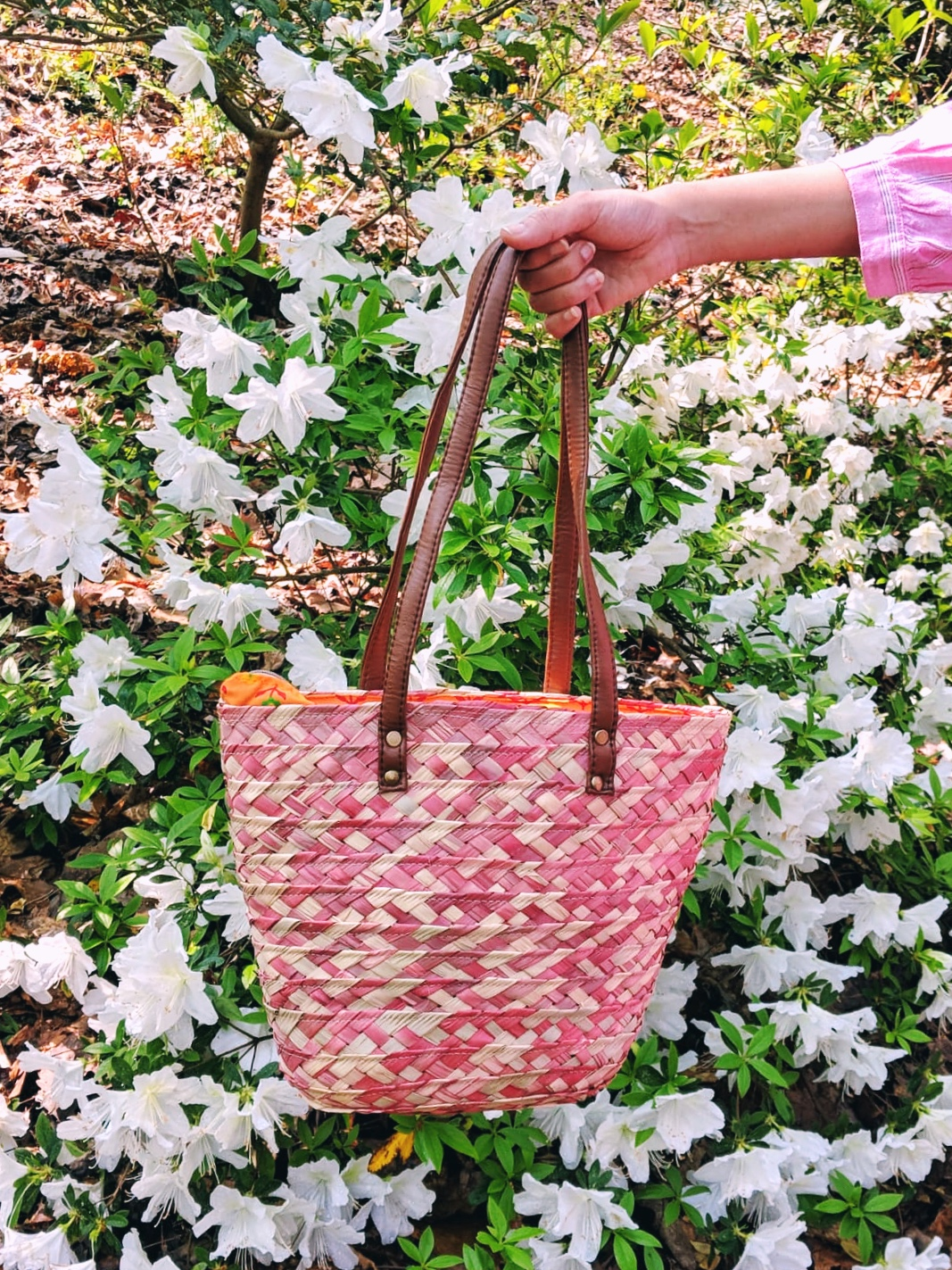 Spring in Atlanta - Straw bag