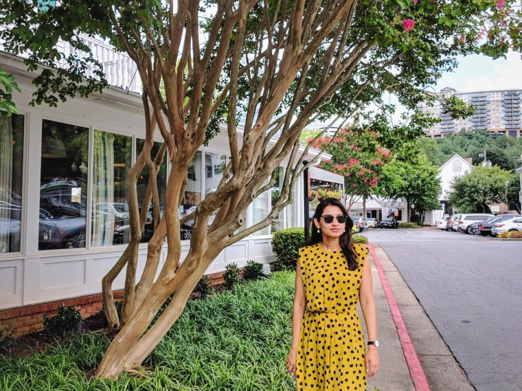 Mustard Polka Dot Dress