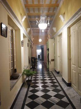 The corridor leading to our rooms
