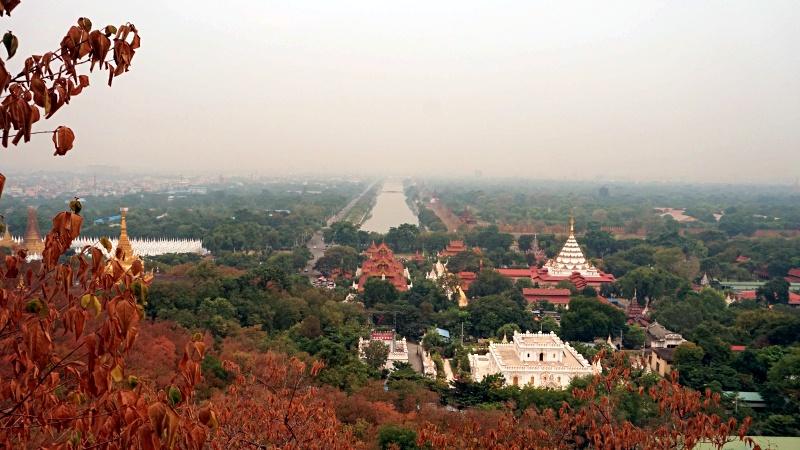 mandalay hill top . panoramic city view