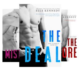 Off Campus contemporary romance series book covers