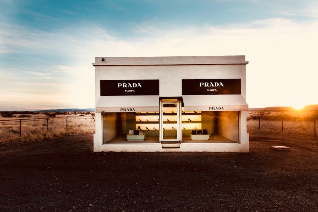 The Prada Marfa installation in Texas.