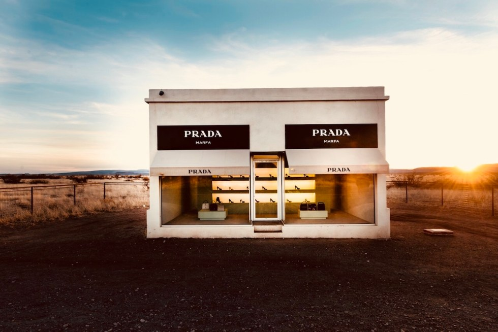 the Prada Marfa installation in Texas