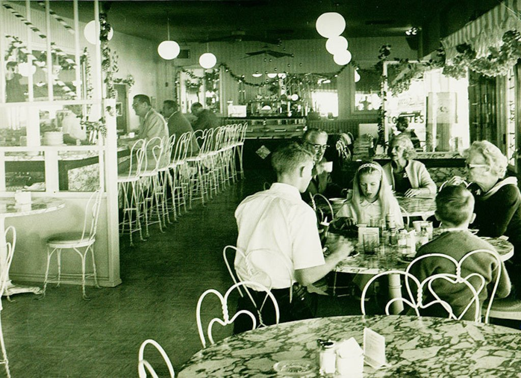 Sugar Bowl interior space in the past.