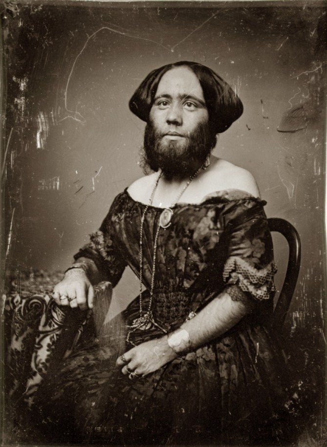 "Photo of ""The Bearded Lady of Geneva"""