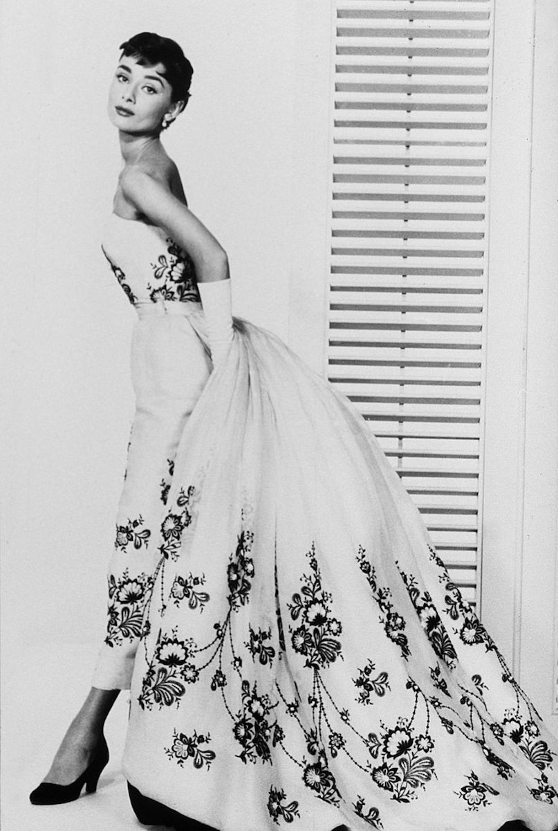 "Audrey Hepburn as ""Sabrina,"" wearing Hubert de Givenchy creation."