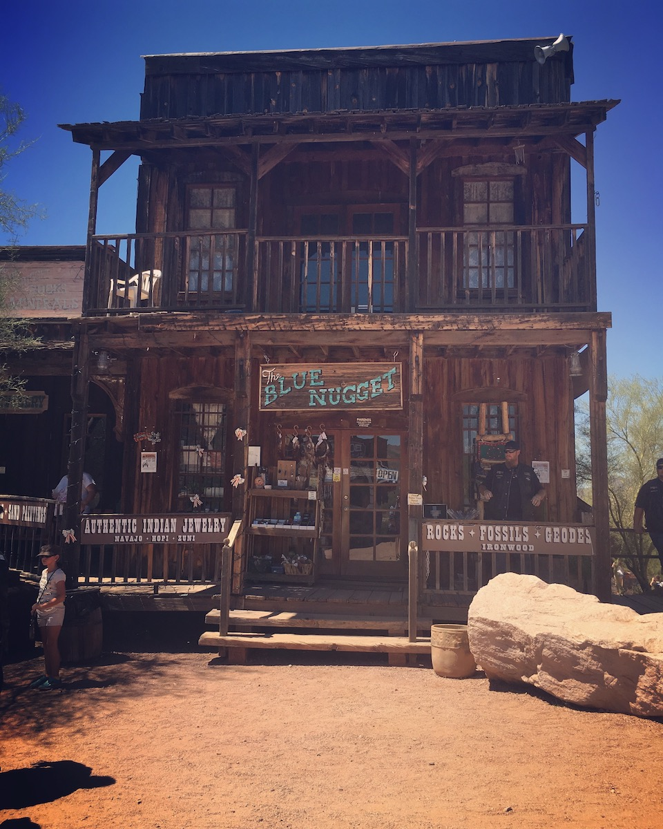 The Blue Nugget, Goldfield, Arizona, Photo by Katerina Papathanasiou