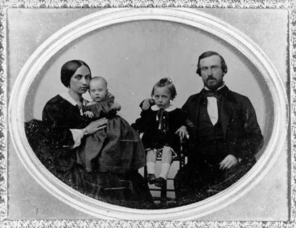 Photo of Thomas and Anna Whaley with two of their children.