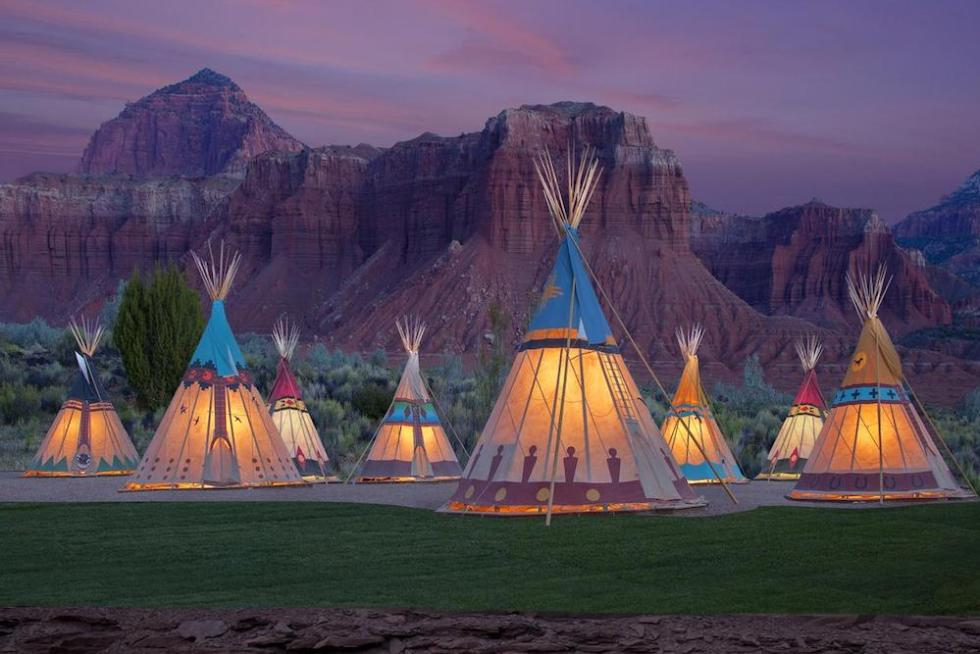 Tepees in Capitol Reef Resort, Torrey, Utah