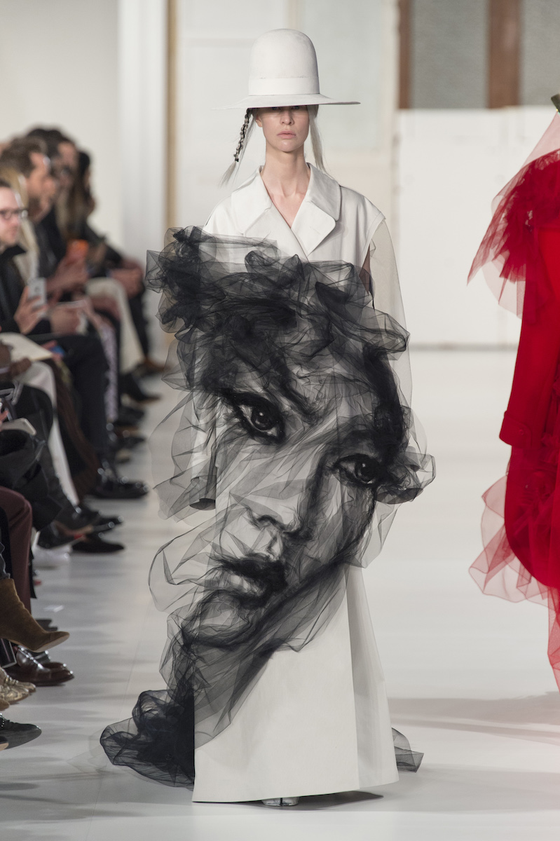 Benjamin Shine in collaboration with John Galliano for Maison Margiela Artisanal during the Haute Couture fashion week in Paris.