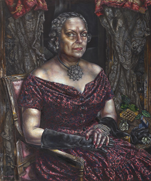 "Ivan Albright. ""Portrait of Mary Block,"" 1955/1957. Gift of Mary and Leigh Block. © The Art Institute of Chicago."