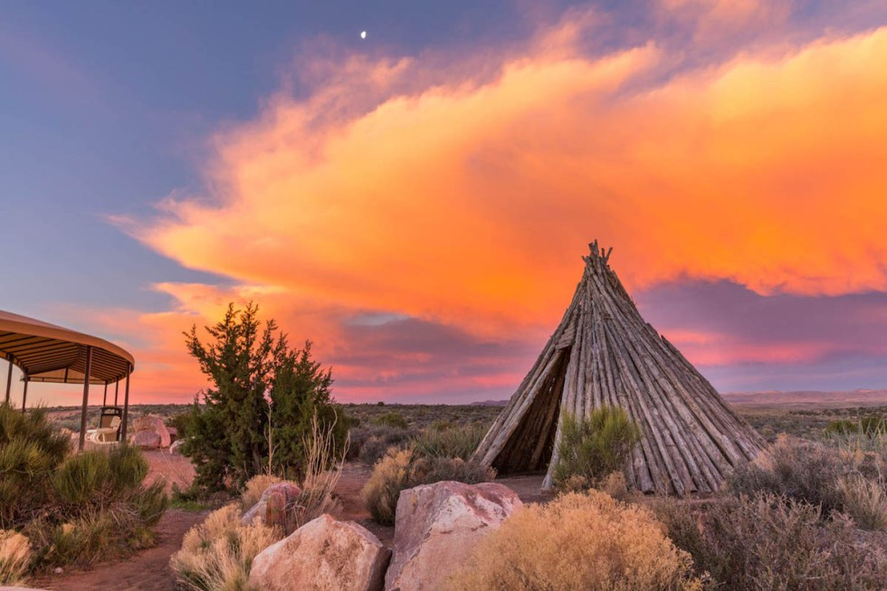 A hut used by Native Americans in Peach Springs, Arizona.
