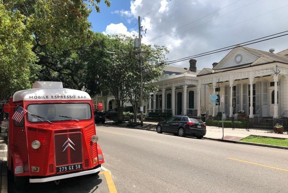 Mobile Espresso Bar in New Orleans, Louisiana.