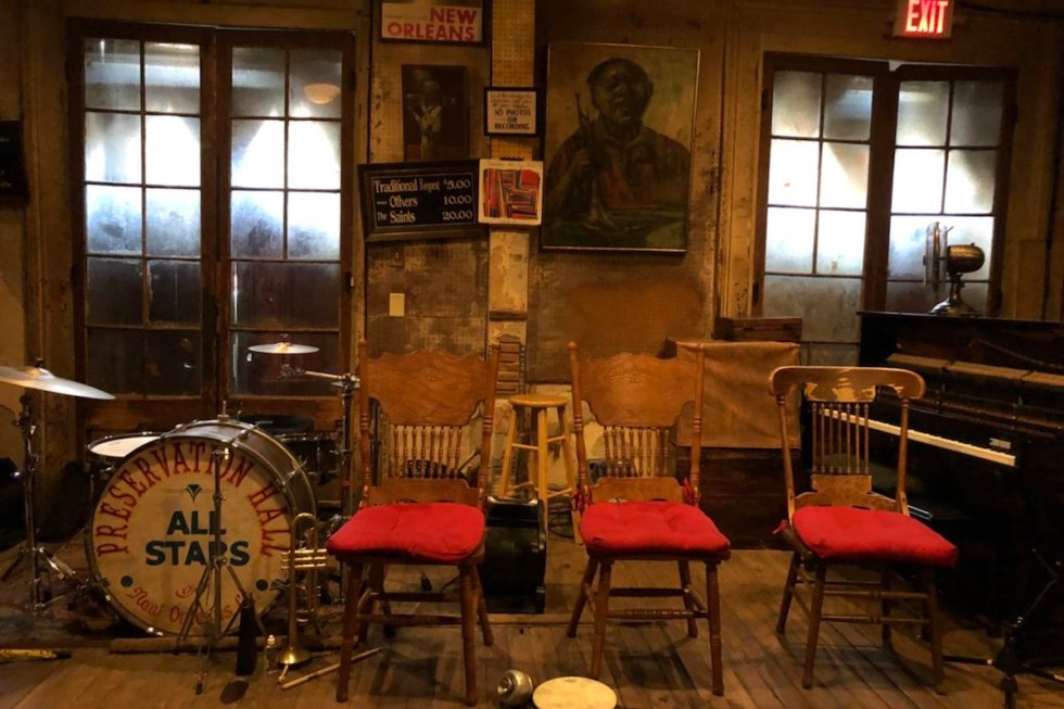 Preservation Hall in New Orleans, Louisiana.