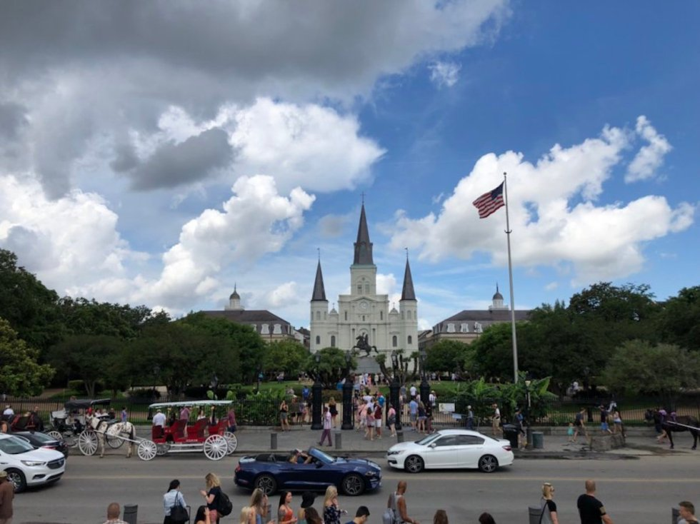 Saint Louis Cathedral, New Orleans, Louisiana.