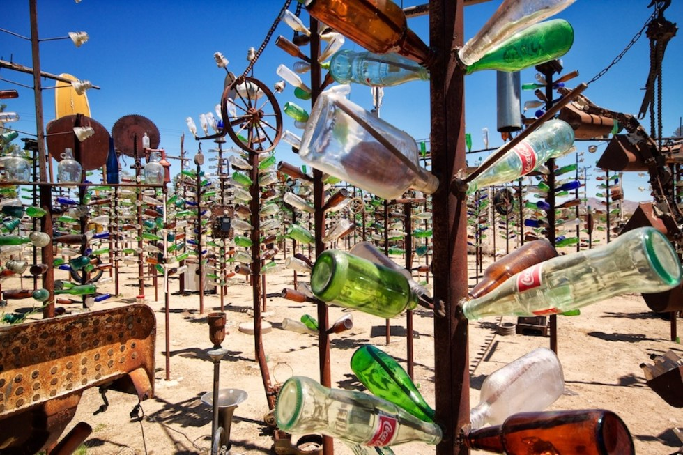 """Photo of the """"Bottle Tree Ranch"""" in California, USA."""